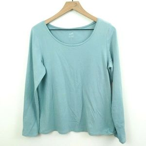 J. Jill Turquoise Perfect Layering Tee